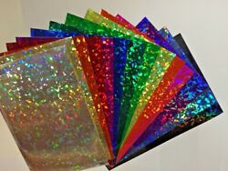 Holographic Crystal Sign Vinyl Choose Size And Color Holocrystal Cracked Glass