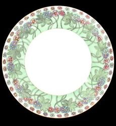 Antique Bavaria 1911 Floral Green Decorative Wall Plate Hand Signed Germany
