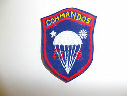 B0942 Wwii Oss Chinese Commandos Hand Embroidered Patch On Blue Wool C19a8
