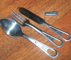 Mess Kit Knife Spoon Fork And P38 Shelby Military Utensils Usmc C-ration Scout