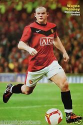 Wayne Rooney Running With Ball Poster - Manchester United Fc Soccer/football