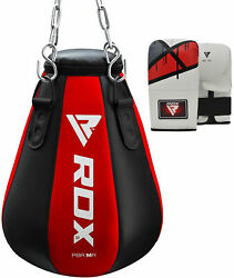 Rdx Heavy Filled Maize Punch Bag Boxing Gloves Pear Angle Muay Thai Kick Mma Os