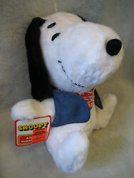Vintage Snoopy Knickerbocker Plush Figure 12 Toy W/ Tag And Clothes Peanuts Rare