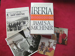 Iberia - Signed By James A. Michener And Robert Vavra To Director Budd Boetticher