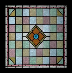 Amazing English Victorian Muranese Antique Stained Glass Window