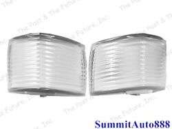 1968 Chevy Impala Front Fender Parking Light Lamp Lens Pair Right And Left 2pcs