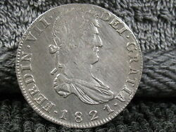 1821 8 Reale-zs/rg Speciman-old Colonial Coinage- -free Ship..