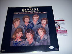 Donny And Marie Osmond The Osmonds Greatest Hits Jsa/coa Signed Lp Record Album