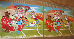 Hanna Barbera Purina Bowl Dogs Sericel And Painted Cel Used To Make The Sericel