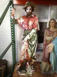 Antique statue of St. Roch