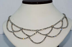 $76000 20.86Ct Natural Diamond Hanging Necklace Platinum