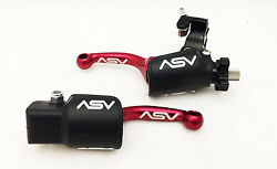 ASV F3 Shorty Red Brake + Clutch Levers Kit Hot Dust Covers Yamaha YZ250F YZ450F