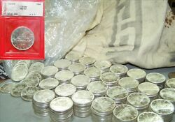 One Canadian Silver Dollar 1966 From Mint Bag-- .800 Fine .6 Oz Of Pure Silver