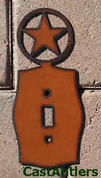 6 Pack: Texas Star Single Light Switch Plate Cover Metal Western Rustic Decor