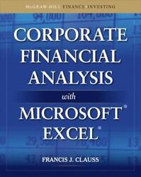 Corporate Financial Analysis With Microsoft Excel By Francis J. Clauss English