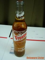 Vintage 1970's Usa Frostie Root Beer 16 Oz Clear Glass Soda Bottle Full