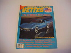Vettes Chevy Corvette September 1991 9/91 From Private Estate Collection