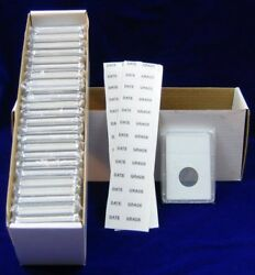 100 Slab Coin Holders Choice Of 10 Diff. Size Inserts