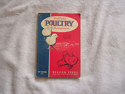 Profitable Poultry Management 24th Edition 1962 Beacon Feeds