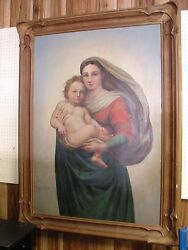 Virgin Mary And Child Painting
