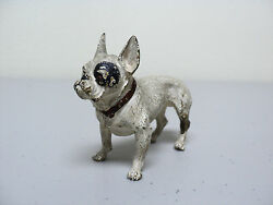 GESCHUTZ MINIATURE AUSTRIAN BRONZE COLD PAINTED FRENCH BULLDOG FIGURINE