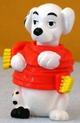 Mcd 1996 Mcdonalds Disney 101 Dalmatian Toy Ornament 81 Wrapped In Red Scarf