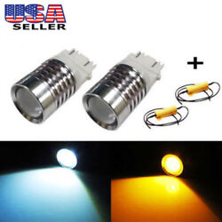 High Power 3157 Switchback LED Bulbs For Turn Signal Lights + Free 50W Resistors