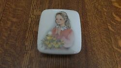 First Communion Rosary Square Box Ceramic Personalized Girl