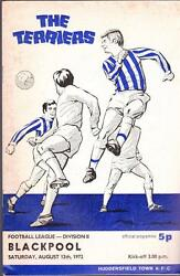 Huddersfield Town Terriers v Blackpool Programme August 12 1972