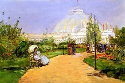 HORTICULTURAL BUILDING COLUMBIAN EXPOSITION CHICAGO BY CHILDE HASSAM REPRO