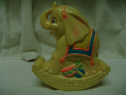Vintage Sanitoy 1977 Baby Rocking Elephant Chime Toy Nice Colors