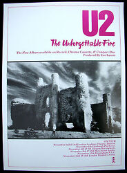 U2 The Unforgettable Fire 1984 Uk Promo Only Poster Edge Bono Larry Adam Minty