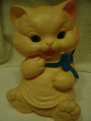 Vintage 1950's Ashland Rubber Squeaky Toy Kitty West Germany