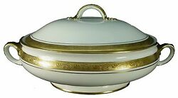 Aynsley China Argosy 8360 Smooth Round Covered Vegetable Serving Bowl Andb Lid