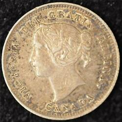 1899 ALMOST UNCIRCULATED Canadian Five Cents Silver #3