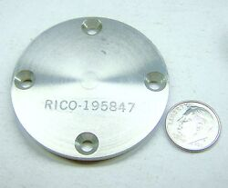 Radar An/msq77 195847 Nos Pinion Retainer Plate 2 Od.3/16 W Stainless Steel
