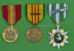 Vietnam Campaign, National Defense And Service Medal With 4 Campaign Stars T1