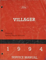 1994 Mercury Villager Mini-Van Factory Service Manual Original Ford Shop Repair