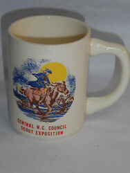 Vintage Boy Scout Mug With Paul Revere In Moonlight Ride Central Nc Exposition