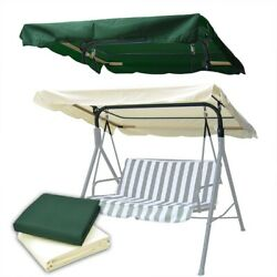 76x44 Outdoor Patio Swing Canopy Top Replacement Cover Garden Uv30+ 180gsm