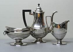 Vintage And Co. Sterling Silver 3-piece Coffee / Tea Set 8897