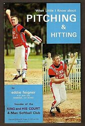 Eddie Feigner King And His Court Book Learn How To Pitch Fastpitch Softball New