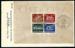 Germany Scott B68 Michel Bl3 On First Day Cover As Shown
