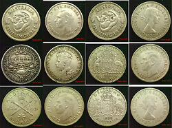 Australia Silver 1, 2 Florin And 5 Shillings 1914 - 1963 Choice Of Coins