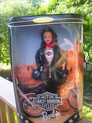 Mattel, ,barbie Harley Davidson Motor Cycles - Barbie Collectables New In Box