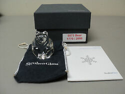 Steuben Crystal Ltd. Edition Bear Figural Hand Cooler, Signed, New In Box