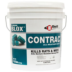 Contrac All-weather Blox Rodenticide 18 Lbs Rodent Rat Mouse Killer Bait Blox