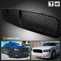 For 2006-2010 Dodge Charger Black Mesh Abs Front Upper Bumper Grill Hood Grille