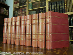 Antique Limited Edition Book Set Horace Walpole Only 100 Made Art Deco Bindings