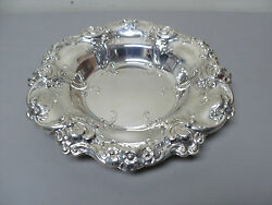 Rare Gorham 'melrose Sterling Silver Chased Decorated Centerpiece Bowl 818